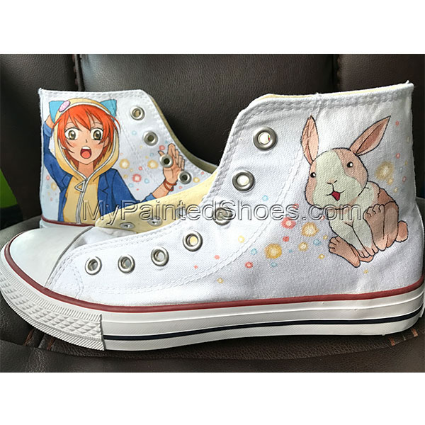 Rin Bunny Kagamine hand painted shoes converse hand painted shoe-1