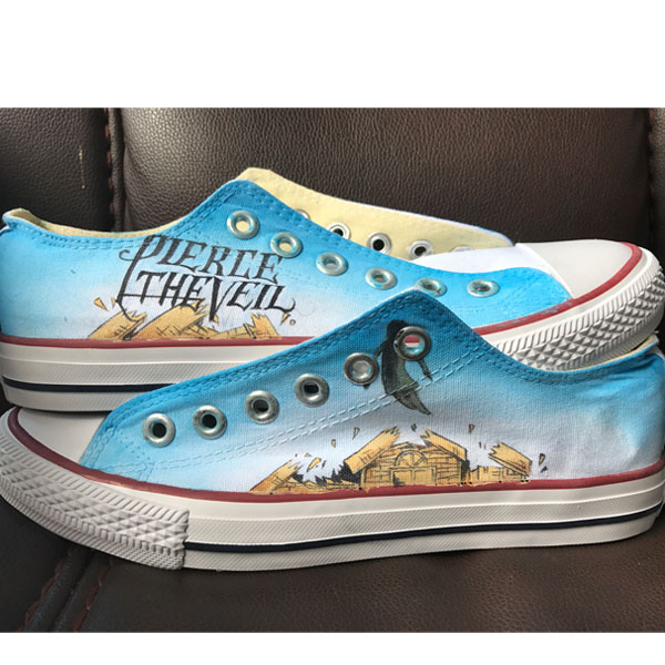 pierce the veil shoes women's Pierce the Veil inspired fan canva
