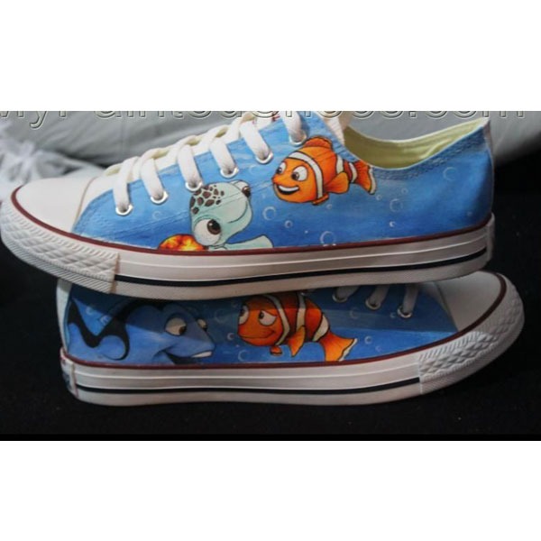 Finding Nemo Converse Shoes Hand painted Finding Nemo Shoes-1