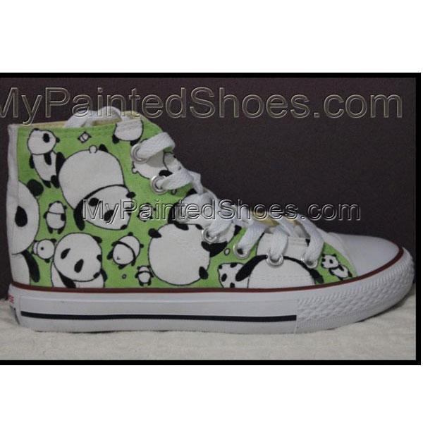 Panda converse Hand Painted Shoes Panda Shoes Custom Converse Bi-2
