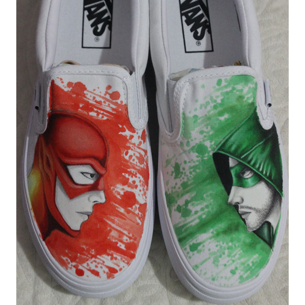 Hand Drawn Arrow And Flash Vans Shoes Hand Painted Shoes