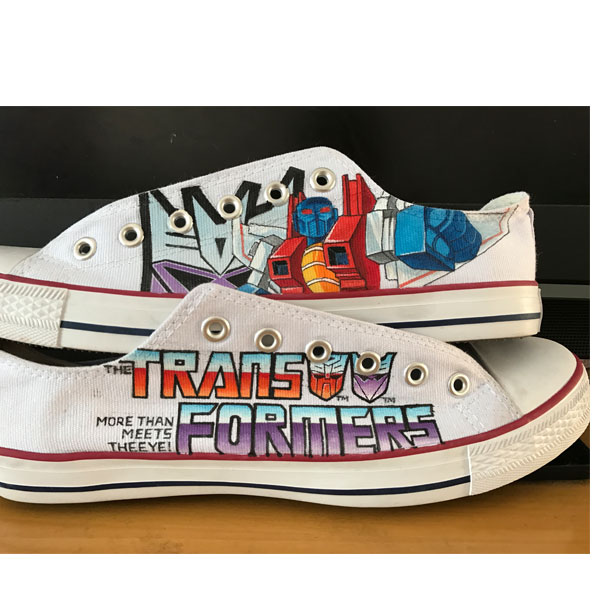 Custom CONVERSE Low Top Shoes Transformers