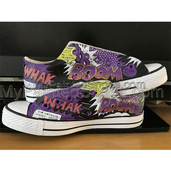 Harley Quinn Custom Converse Shoes unisex adult shoes-1