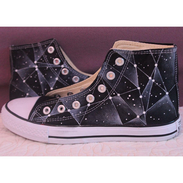 Galaxy Converse Chuck Taylor Men Women High Top Canvas Sneakers
