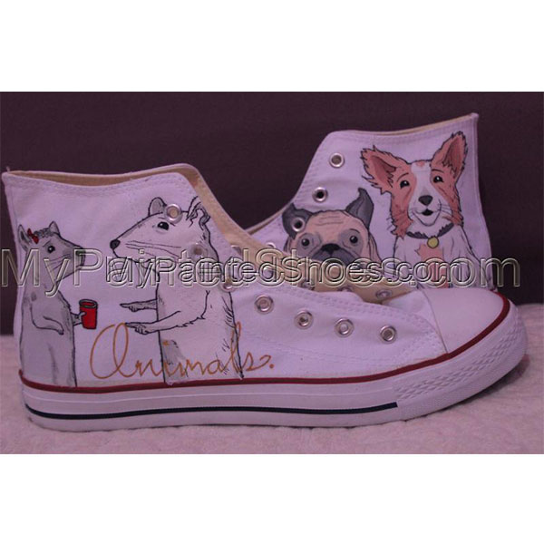 Converse Pet portrait sneakers custom dog shoes gifts-1