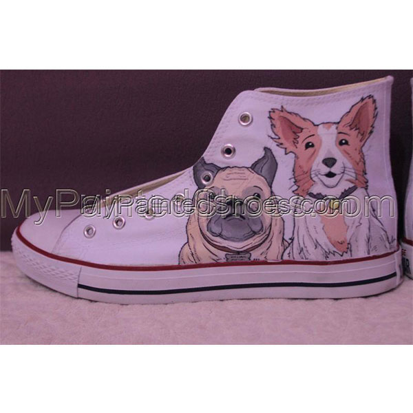Converse Pet portrait sneakers custom dog shoes gifts-3