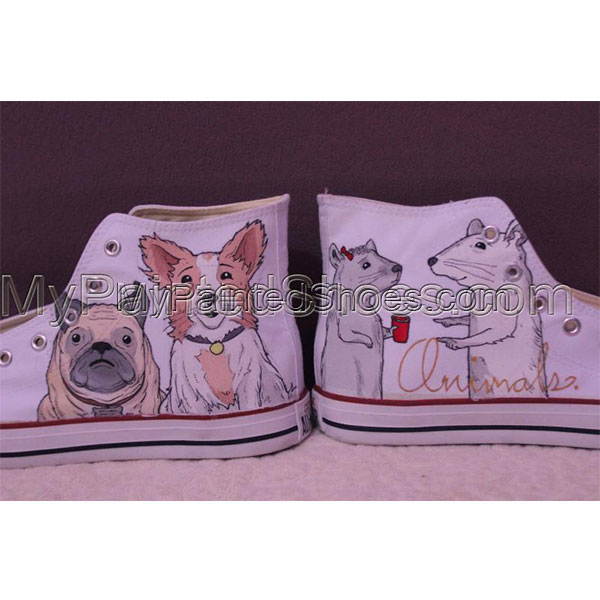 Converse Pet portrait sneakers custom dog shoes gifts-4