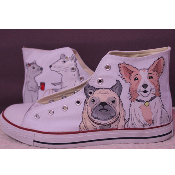 Converse Pet portrait sneakers custom dog shoes gifts