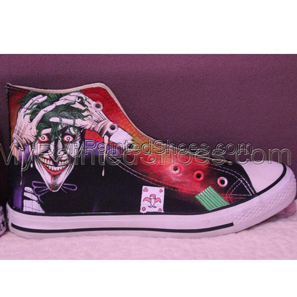 Joker Hand Painted Converse Shoes Custom Joker Converse All Star-3