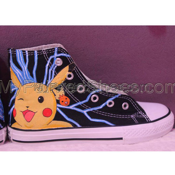 Anime shoes Pokemon handpainted shoes-2