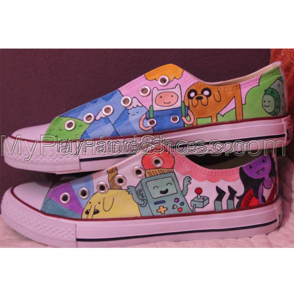 Adventure Time Converse Shoes hour adventure custom Jake Finn ca