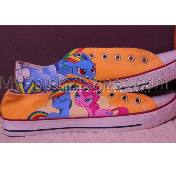 MY LITTLE PONY hand painted custom converse shoes-1