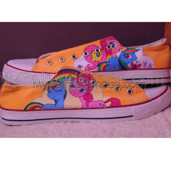 MY LITTLE PONY hand painted custom converse shoes