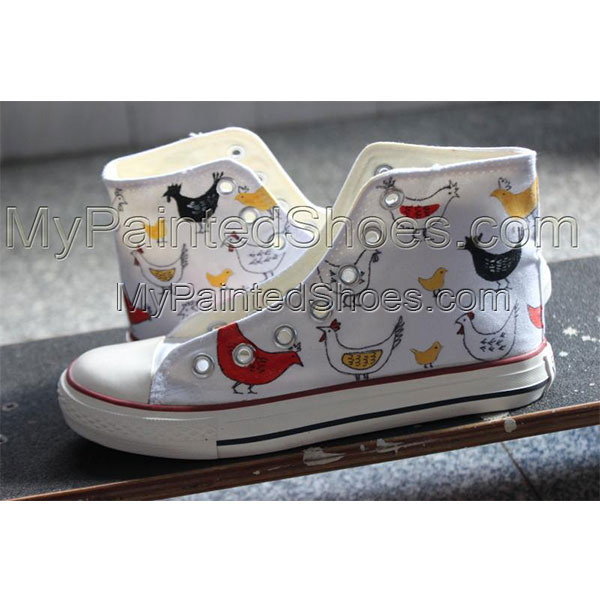 Custom Chicks Painted Shoes Hand Painted Shoes