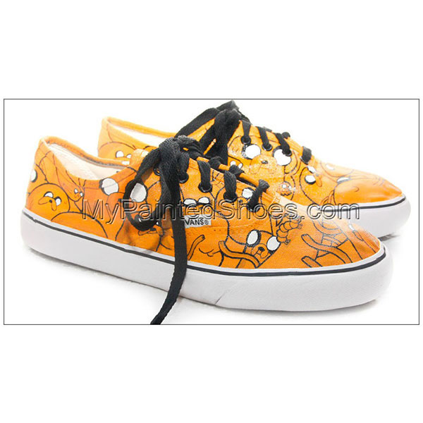 jake adventure time custom painted shoes-1