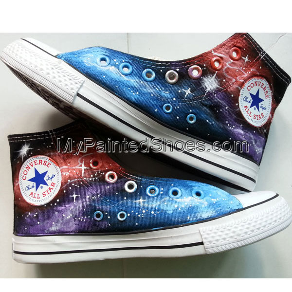 Galaxy Converse Sneakers Custom shoes-2