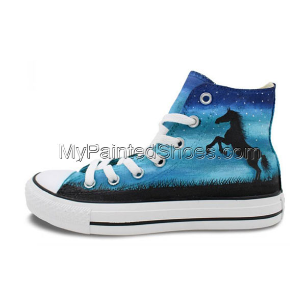 Night Sky Horse Original Design Hand Painted Shoes