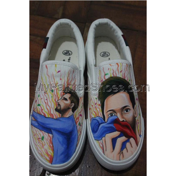 Slip On Shoes Design Custom Messi Canvas Sneakers