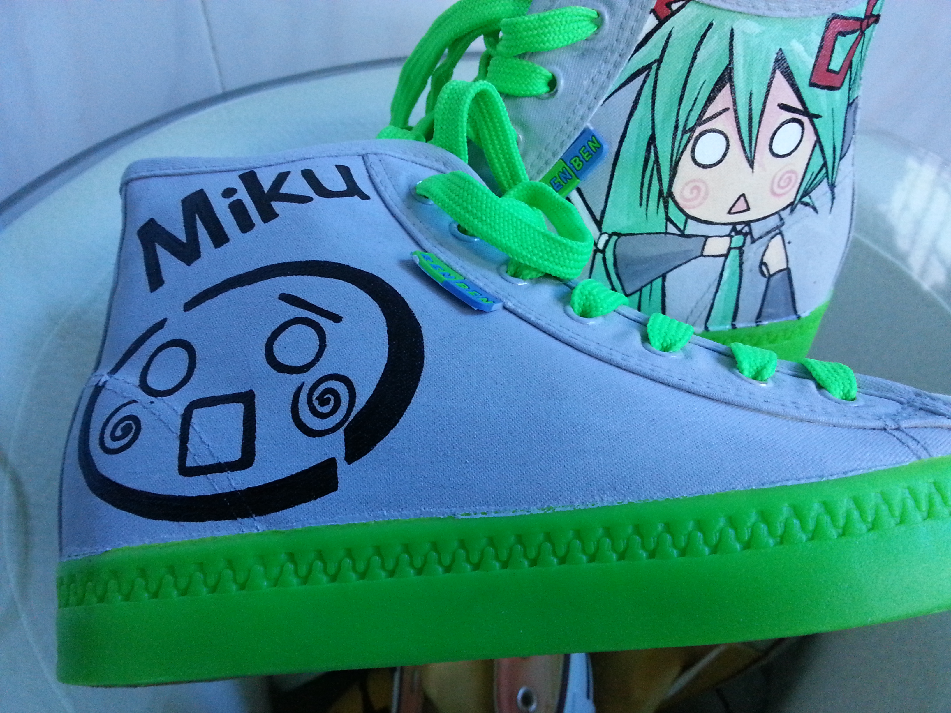 Custom Converse Miku Chuck Taylors New Design Hand Painted Shoes-1