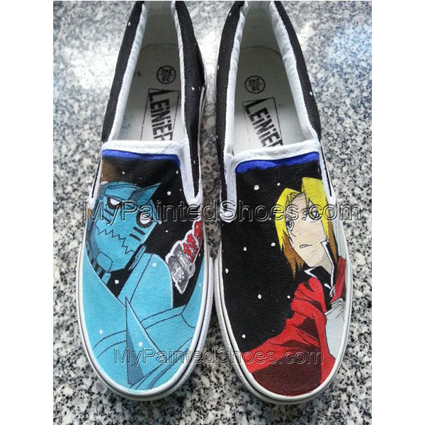 Converse Sneakers Full Metal Alchemist Anime Hand Painte