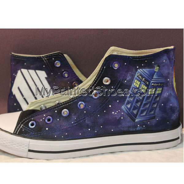 0f5a80d196b8 Handmade Converse Shoes Doctor Who DW Tardis Galaxy Hand Painted