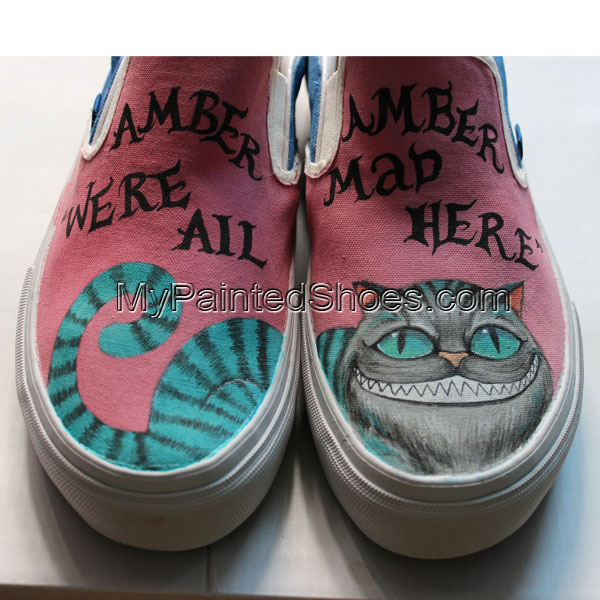 Customized Vans Custom Vans Cheshire Cat Custom Hand-Painted Van-2