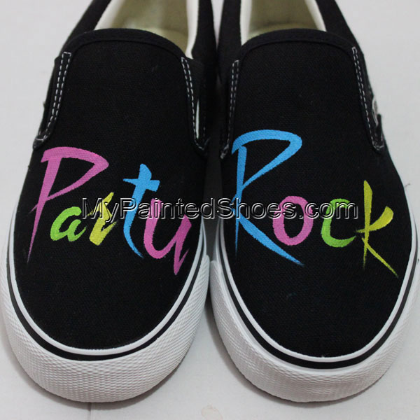 Painted Vans Shoes Party Rock Custom Vans Sneakers Handpainted S