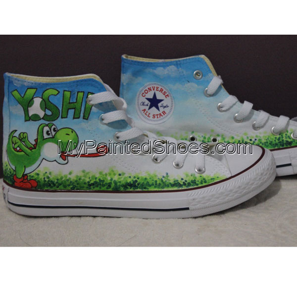 Custom Chuck Taylor Converse Shoes Yoshi High Sneakers Custom Yo-2