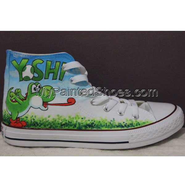 Custom Chuck Taylor Converse Shoes Yoshi High Sneakers Custom Yo-3