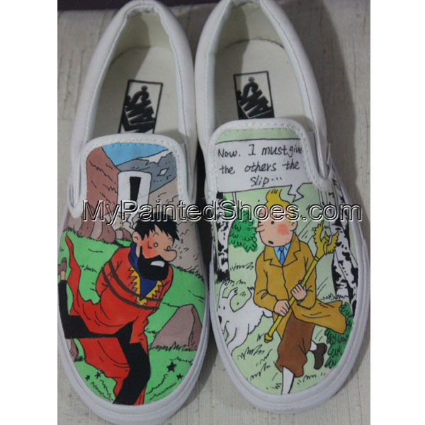 Custom Painted Vans Slip ons Custom Vans Shoes for Men