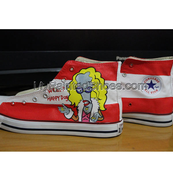 Canvas Shoes Hand Customised Roger American Dad Custom Chuck Tay-1