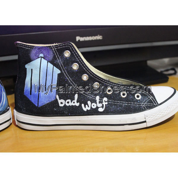 Handmade The Bad Wolf Doctor Who Dr. Who Shoes Converse Shoes-2
