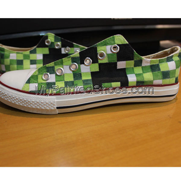 Minecraft Chuck Taylors Minecraft Custom Shoes Hand Painted Mine