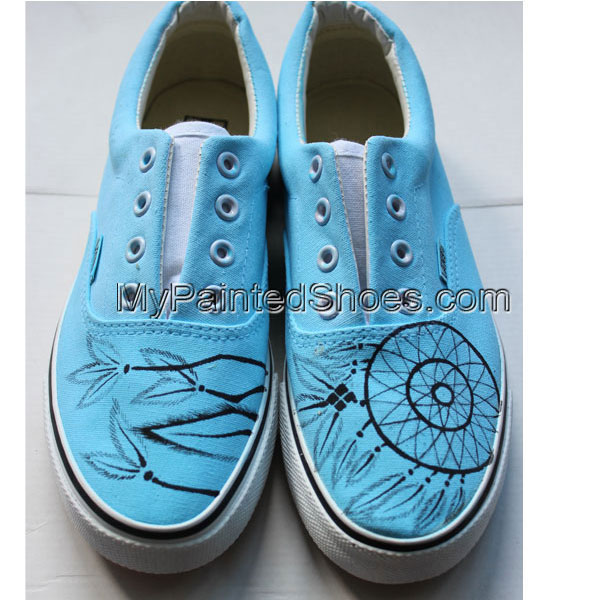 Custom Painted Dream Catcher Shoes-1