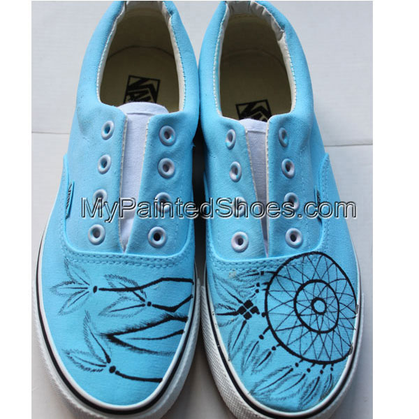 Custom Painted Dream Catcher Shoes