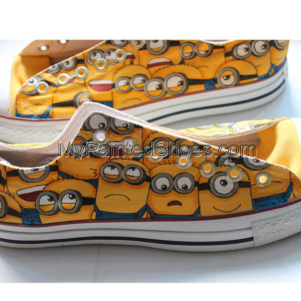 Converse Hand Painted Minions Custom Shoes Minions Converse Hand
