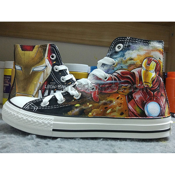 Iron Man Converse Hand Painted Canvas Shoes Hand Customised with