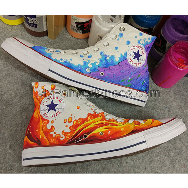Anime Design Converse All Star Sneakers Hand Painted Shoes-6