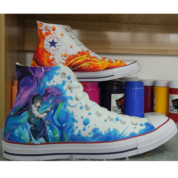 Anime Design Converse All Star Sneakers Hand Painted Shoes