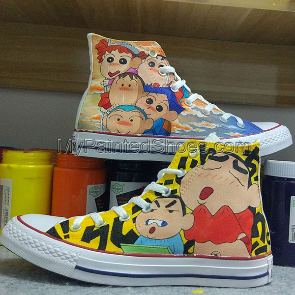 Anime Converse All Star Hand Painted Shoes Unisex Sneakers-1