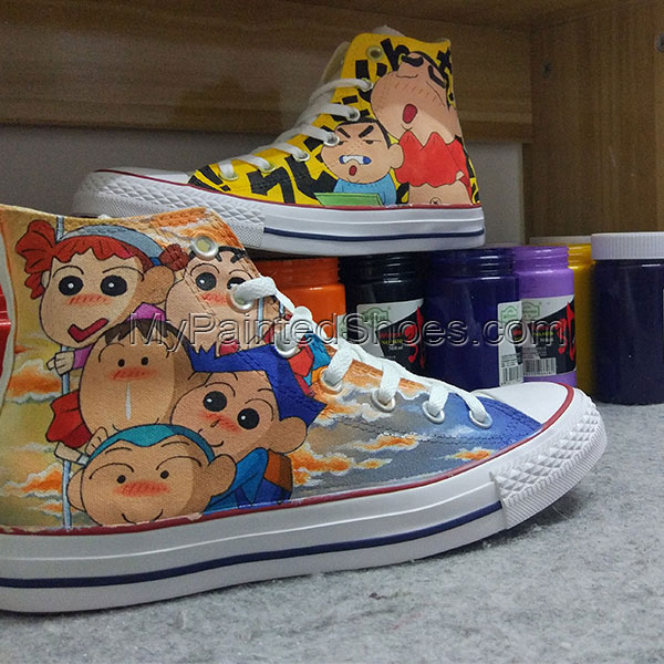 Anime Converse All Star Hand Painted Shoes Unisex Sneakers-3