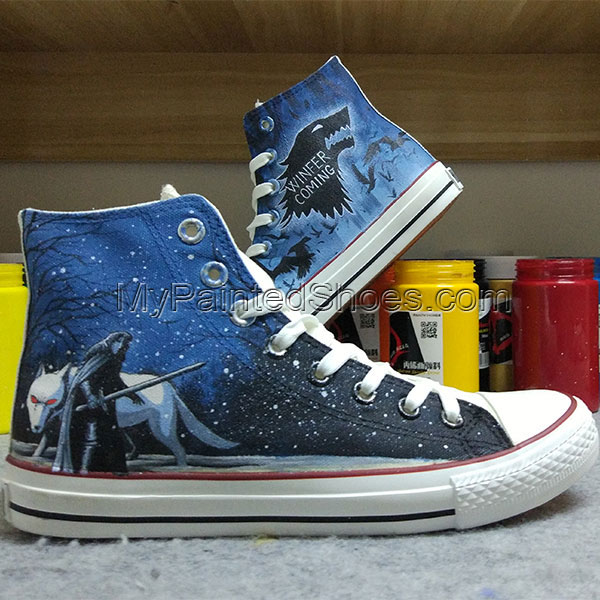 Winter is Coming Converse All Star Design Hand Painted Shoes Men-1