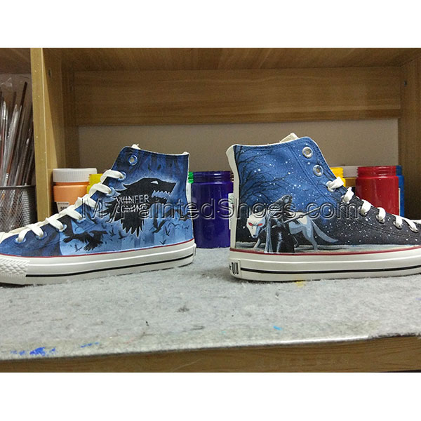 Winter is Coming Converse All Star Design Hand Painted Shoes Men-3