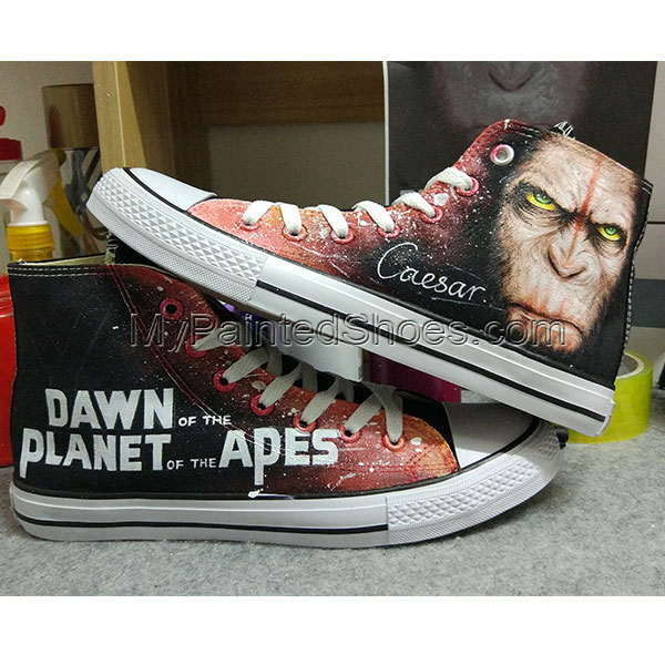 Dawn of the Planet of the Apes Converse Chuck Taylor Hand Painte-3