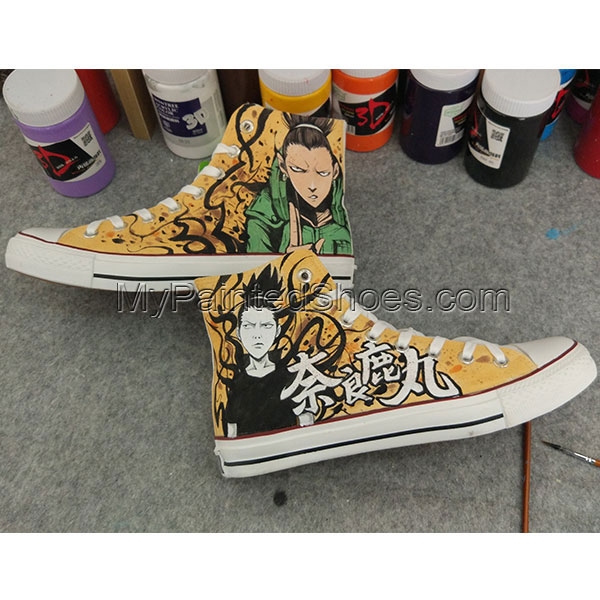 Anime Shikamaru Naruto Converse All Star Hand Painted Shoes-1