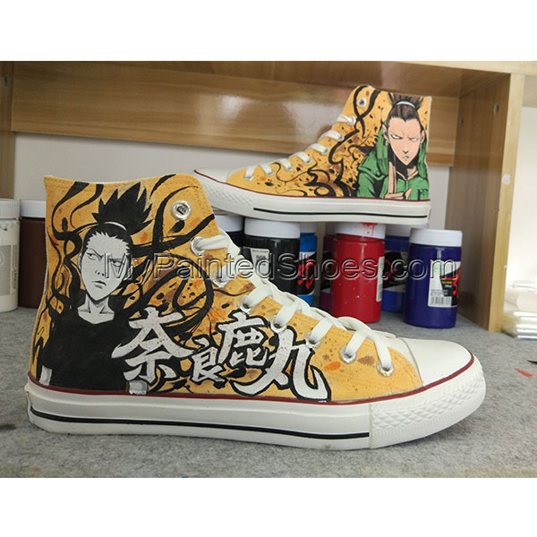Anime Shikamaru Naruto Converse All Star Hand Painted Shoes-4