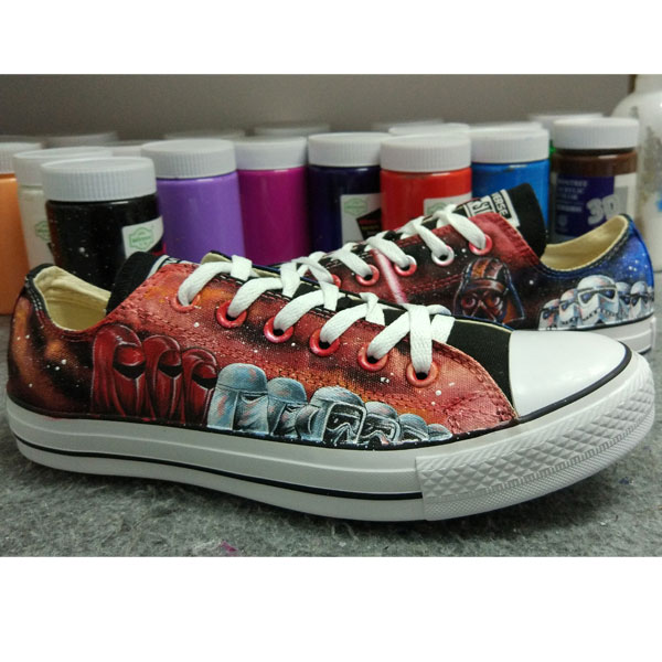 37096fab26a29 High-top Painted Canvas Shoes : Hand Painted Canvas Shoes, Custom ...