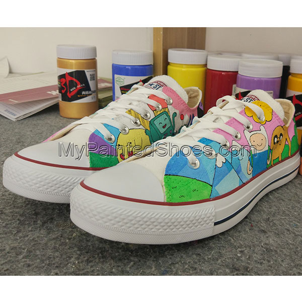 5f45680b8f65 Adventure Time Anime Sneakers Converse Chuck Taylor Design Hand
