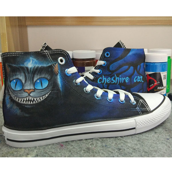 The Cheshire Cat Design Converse All Star Hand Painted Shoes Sne-1