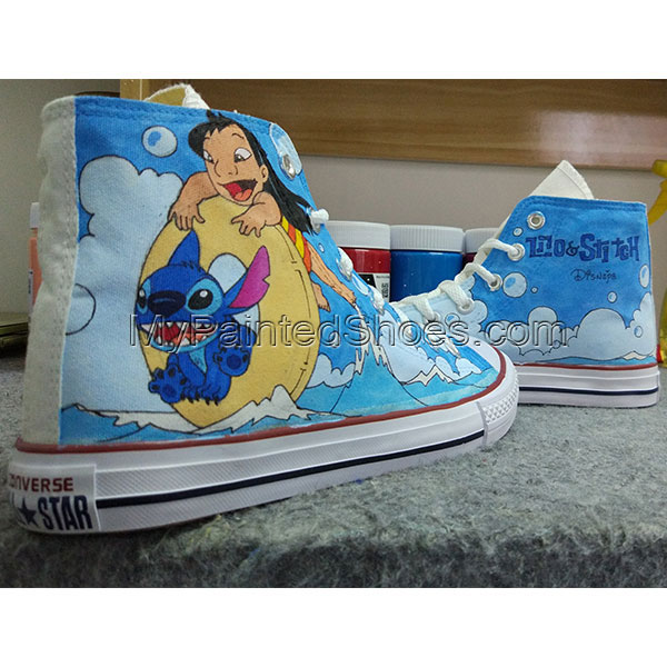 Converse All Star Stitch Shoes Hand Painted Shoes Men Women's-2